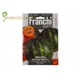 Семена на мини дини Блу F1 (тип Кримсон) - сладки плодове с размери 2,5 - 4,5 кг