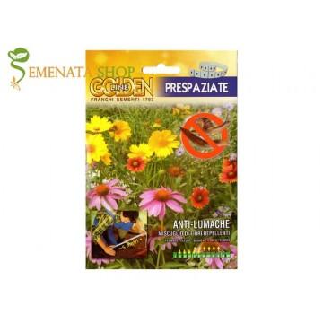 Семена на цветя против охлюви - удобна за засяване лента 5 м
