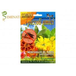 Семена на цветя срещу комари - микс от приятни аромати за саксия и градина