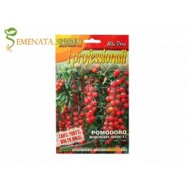 Семена на колови чери домати Мончери F1 - много сладък и супер родовит с дълги гроздове