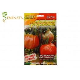 Семена на чревен едър домат Португалски F1 с лек розов отенък - професионална серия Franchi със сладък вкус