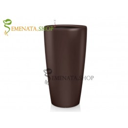 Стилна саксия с напителна система в цвят Кафе (кафяво) - Ф39/H76.7 см