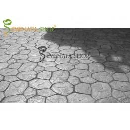 Ръчно приготвени плочки бетонови 85/85/3 см - модел с шарка Ломен камък