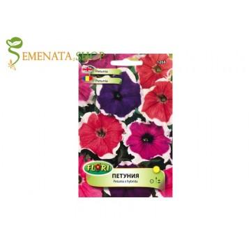 Семена на каскадна петуния Пикоти с бял кант микс - Petunia x hybrida