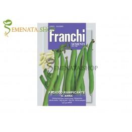 Семена на Зелен цилиндричен увивен фасул Света Анна - бяло зърно