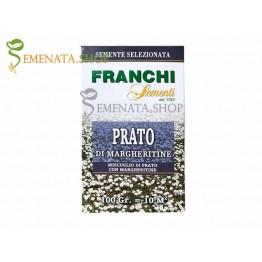 Тревна смеска с маргаритки за създаване на естествена горска цъфтяща поляна