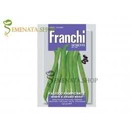 Семена на Зелен цилиндричен увивен фасул Бобис - черно зърно