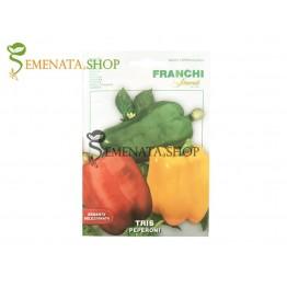 Семена на пипер микс - жълт, зелен, червен Франчи