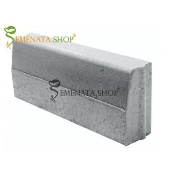 """Вибропресован бетонов бордюр с възможност за захват тип """"длъб и зъб"""" 50/18/H35 см"""