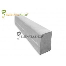 Гладък бетонов бордюр 100/15/H25 см
