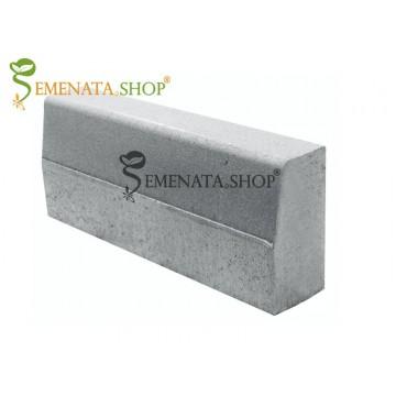 Вибропресован гладък бетонов бордюр 50/18/H30 см