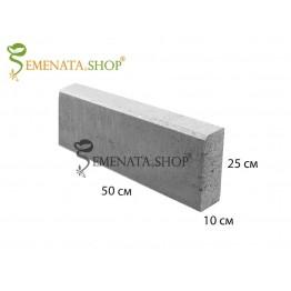 Гладък градински бетонов бордюр 50/10/H25 см