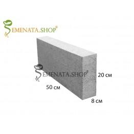 Градински бетонов бордюр 50/8/H20 см