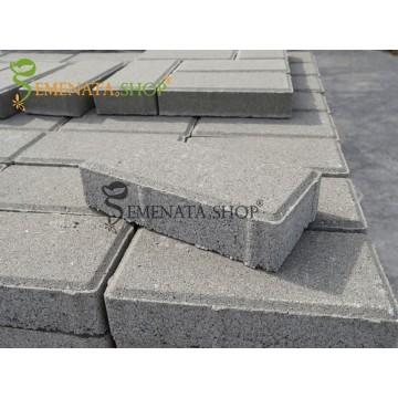 Бетонови павета 20/10/6 от вибропресован бетон с висока якост - цена за 1 бр. паве