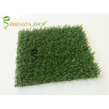Декоративна изкуствена трева за стена двор и тераса 16 мм