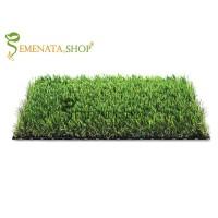 Ефектна изкуствена трева с дренаж за двора и градината 35 мм с технология за естествен външен вид