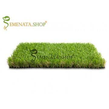 Луксозна изкуствена трева за двор с иновативна технология за естествена мекота – H60 мм