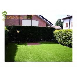 Качествена изкуствена трева за тераса с технология за естествен външен вид 50 мм