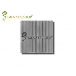 Тактилни плочки бетонови 40/40/5 см вибропресована с ивици