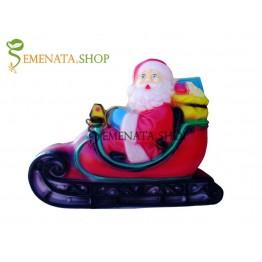 Светеща фигурка на Дядо Коледа на шейна