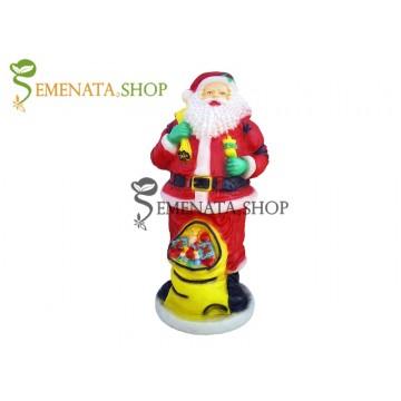 Висока Светеща фигурка на Дядо Коледа за открито и закрито с височина 140 см - модел XL