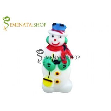Светещ Снежен човек за открито и закрито с UV защита - модел M