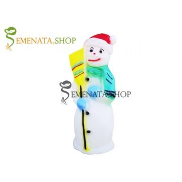 Светещ Снежен човек за открито и закрито с UV защита - модел S