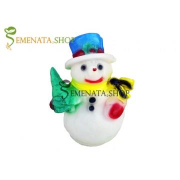 Светещ Снежен човек за открито и закрито с UV защита - модел XS