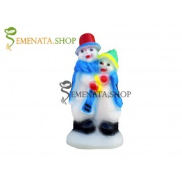 Светеща любовна фигура на Снежен човек за открито и закрито с UV защита