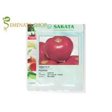 Сортови семена на розови колови домати Фуджи Пинк F1 (Fuji pink F1) - много вкусни и ароматни