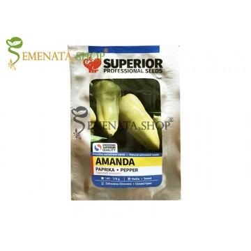 Семена на ранна чушка Аманда (Amanda) - сладък сорт за прясна консумация Супер родовит