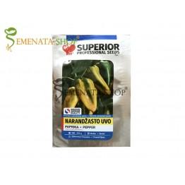 Сръбски семена на пипер Оранжево ухо - едър нестандартен сорт