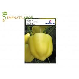 Семена на светло жълта камба пипер Белинда - тип Долма много родовита и устойчива