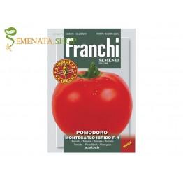 Семена на червени домати Монтекарло F1 (Montecarlo F1) - средноранозрели, колови