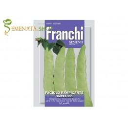 Семена на увивен фасул - зелен плосък сорт Изумруд с приятен вкус