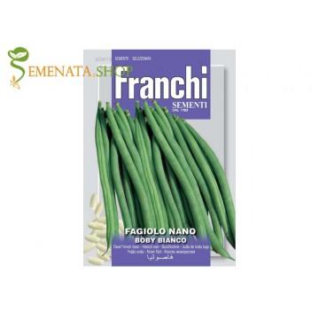 Семена на фасул нисък цилиндричен зелен Боби бианко