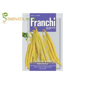 Семена на фасул нисък жълт цилиндричен Берголд