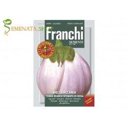 Семена на патладжан Бял с розово кръгъл - специална селекция Франчи