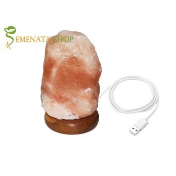 Лампа от хималайска сол USB на страхотна цена
