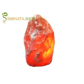 Лампа от солен кристал хималайски с тегло 4 - 6 кг на силиконови крачета