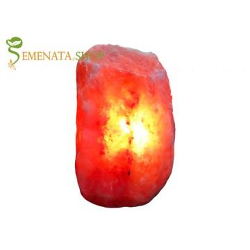 Романтична нощна лампа за спалня от Хималайска сол 2-3 кг на силиконови крачета
