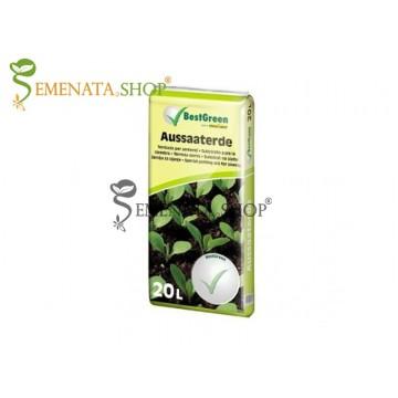Специален субстрат за засяване на семена, разсади, билки и подправки 20 литра - BEST GREEN - Aussaaterde