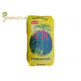 Декоративен мулч от Пиния (борови кори) 70 л - уникален декоративен ефект без болести и вредители