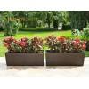 Луксозно дълго сандъче за цветя в стилен кафяв цвят (мока) и шарка тип рае 56Х19Х19.5 см