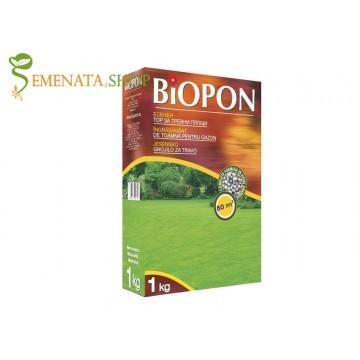 Гранулиран есенен тор за тревни площи 1 кг (до 50 кв.м) - силно подхранване преди зимата без азот