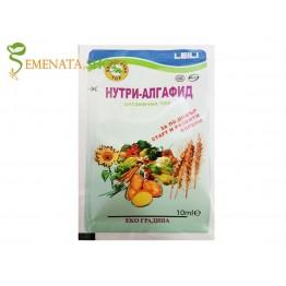 Течен органичен тор Нутри Алгафид на фирма Лейли за мощно подхранване на корените при пшеница, царевица, зеленчуци, люцерна и др.