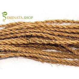 Дебело въже от кокосови влакна за украса и връзване с около 100 м дължина