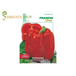 Семена на чушки червени от Франчи Италия сорт Quadrato d'Asti rosso