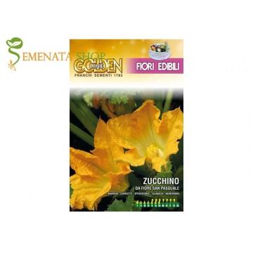 Семена на тиквичка с ядлив цвят Сан паскуал - ключът към средиземноморската кухня