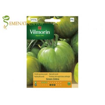 Страхотни екзотични зеленчуци семена на зелени Домати Грийн зебра (Green Zebra)